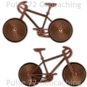 Bike (Bicycle) Geocoin - Copper